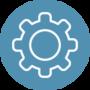 Gear Icon Blue