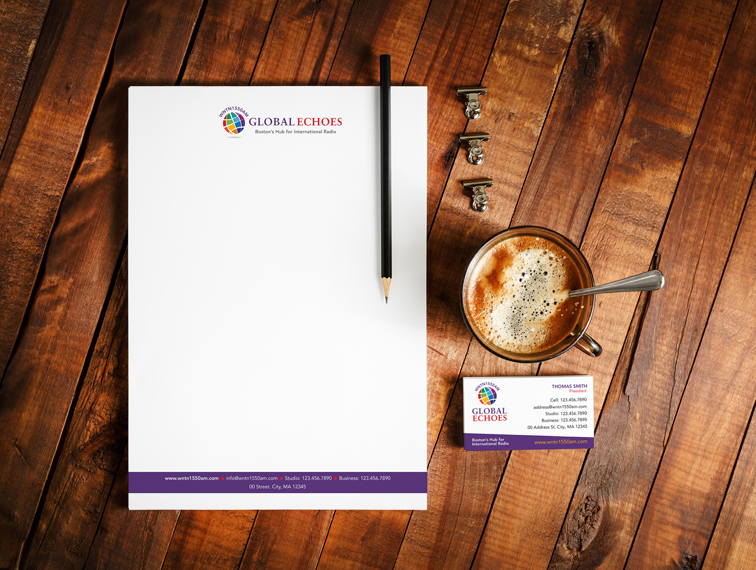 Global Echoes Stationery