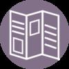 TriFold Brochure Icon Purple