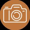 Camera Icon Orange