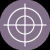 Printers Registration Mark Icon Purple