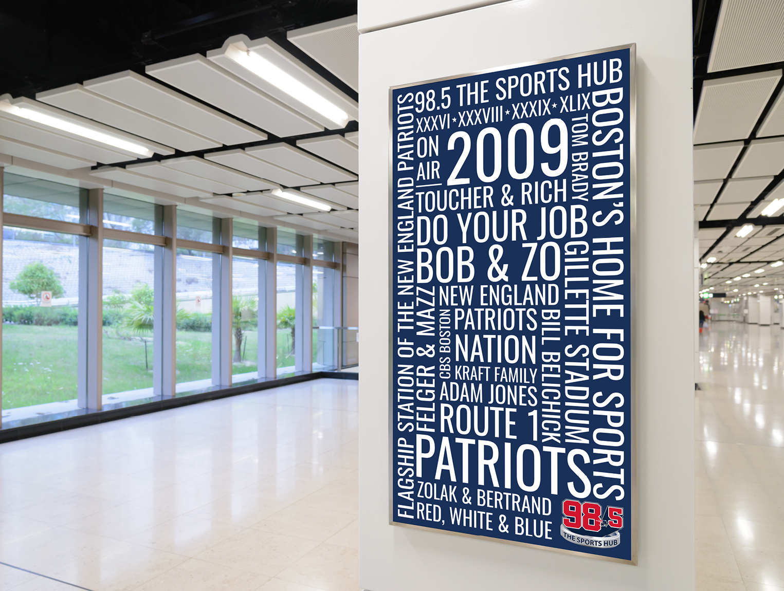 98.5 The Sports Hub Poster