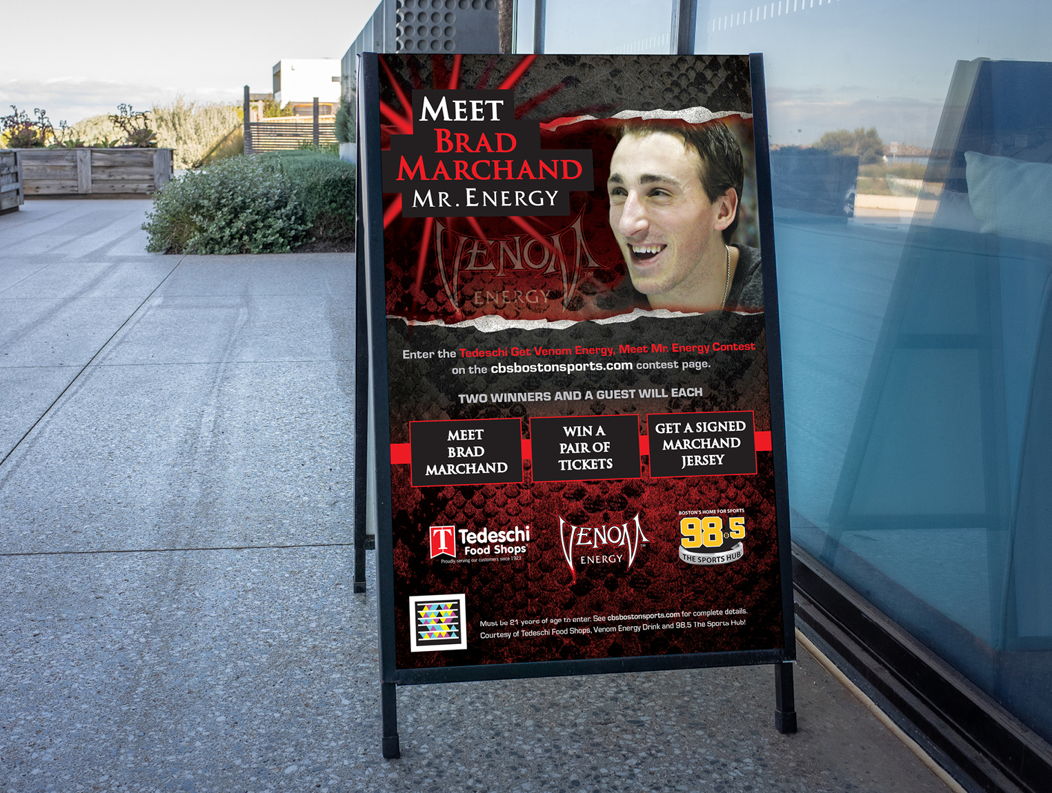 98.5 The Sports Hub Brad Marchand Poster
